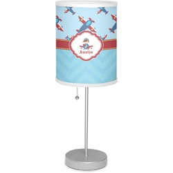 "Airplane Theme 7"" Drum Lamp with Shade (Personalized)"