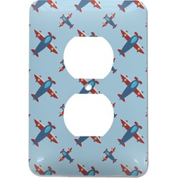 Airplane Theme Electric Outlet Plate (Personalized)