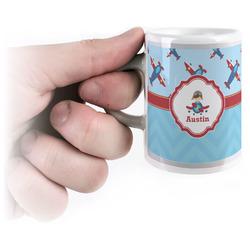 Airplane Theme Espresso Cups (Personalized)