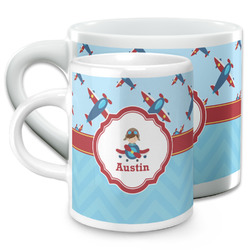 Airplane Theme Espresso Cups (Personalized)