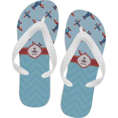 Airplane Theme Flip Flops (Personalized)