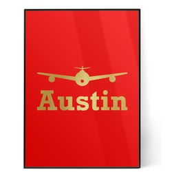Airplane Theme 5x7 Red Foil Print (Personalized)