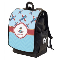 Airplane Theme Backpack w/ Front Flap  (Personalized)