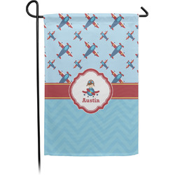 Airplane Theme Garden Flag - Single or Double Sided (Personalized)