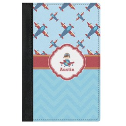 Airplane Theme Genuine Leather Passport Cover (Personalized)