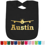Airplane Theme Foil Toddler Bibs (Select Foil Color) (Personalized)