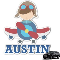 Airplane Theme Graphic Car Decal (Personalized)
