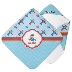 Airplane Theme Hooded Baby Towel (Personalized)
