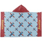 Airplane Theme Kids Hooded Towel (Personalized)