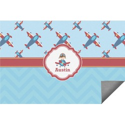 Airplane Theme Indoor / Outdoor Rug (Personalized)