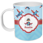Airplane Theme Plastic Kids Mug (Personalized)