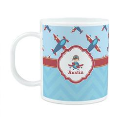 Airplane Theme Plastic Kids Mug (Personalized)