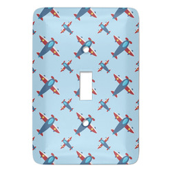 Airplane Theme Light Switch Covers - Multiple Toggle Options Available (Personalized)