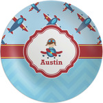 Airplane Theme Melamine Plate (Personalized)