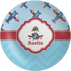 Airplane Theme Melamine Plate - 8