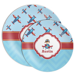Airplane Theme Melamine Plate (Personalized)