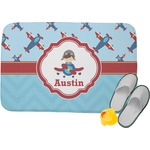 Airplane Theme Memory Foam Bath Mat (Personalized)
