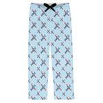 Airplane Theme Mens Pajama Pants (Personalized)
