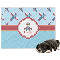 Airplane Theme Dog Blanket (Personalized)