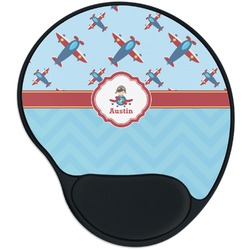 Airplane Theme Mouse Pad with Wrist Support