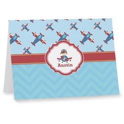 Airplane Theme Notecards (Personalized)