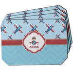 Airplane Theme Dining Table Mat - Octagon w/ Name or Text