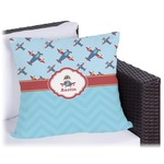 Airplane Theme Outdoor Pillow (Personalized)