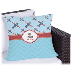 "Airplane Theme Outdoor Pillow - 20"" (Personalized)"