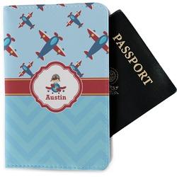 Airplane Theme Passport Holder - Fabric (Personalized)