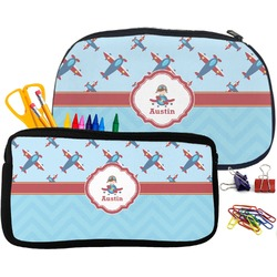 Airplane Theme Pencil / School Supplies Bag (Personalized)