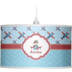 Airplane Theme Drum Pendant Lamp (Personalized)