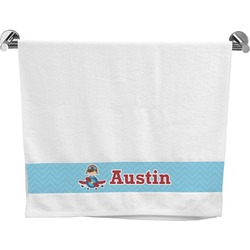 Airplane Theme Bath Towel (Personalized)