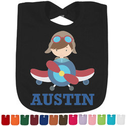 Airplane Theme Bib - Select Color (Personalized)
