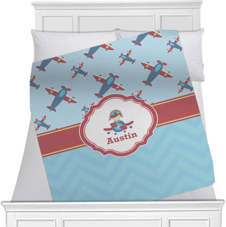 Airplane Theme Fleece Blanket Queen King 90 Quot X90
