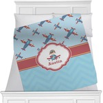 Airplane Theme Minky Blanket (Personalized)