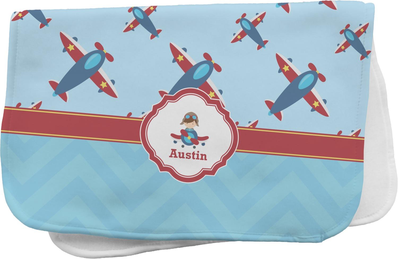 Airplane Theme Burp Cloth Personalized Youcustomizeit