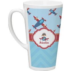 Airplane Theme 16 Oz Latte Mug (Personalized)