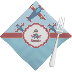 Airplane Theme Napkins (Set of 4) (Personalized)