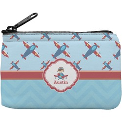 Airplane Theme Rectangular Coin Purse (Personalized)