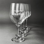 Airplane Theme Wine Glasses (Set of 4) (Personalized)
