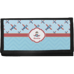 Airplane Theme Canvas Checkbook Cover (Personalized)