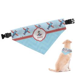 Airplane Theme Dog Bandana (Personalized)