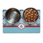 Airplane Theme Pet Bowl Mat (Personalized)