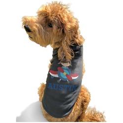 Airplane Theme Black Pet Shirt - XL (Personalized)