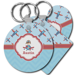 Airplane Theme Plastic Keychains (Personalized)
