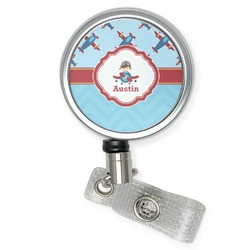 Airplane Theme Retractable Badge Reel (Personalized)