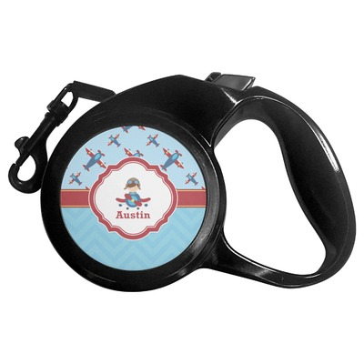 Airplane Theme Retractable Dog Leash (Personalized)