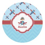 Airplane Theme Round Decal (Personalized)