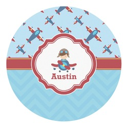 Airplane Theme Round Decal - Custom Size (Personalized)