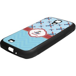 Airplane Theme Rubber Samsung Galaxy 4 Phone Case (Personalized)